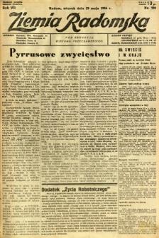 Ziemia Radomska, 1934, R. 7, nr 120