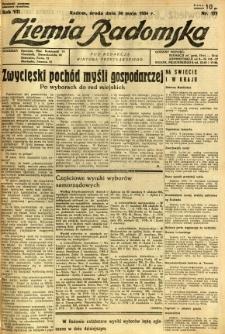 Ziemia Radomska, 1934, R. 7, nr 121