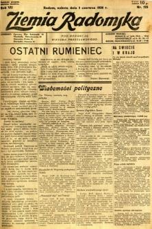 Ziemia Radomska, 1934, R. 7, nr 123