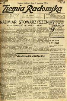 Ziemia Radomska, 1934, R. 7, nr 130