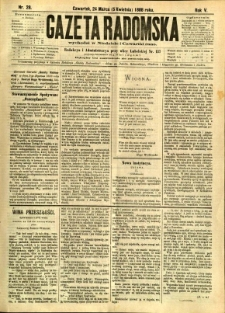 Gazeta Radomska, 1888, R. 5, nr 28