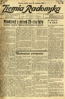 Ziemia Radomska, 1934, R. 7, nr 132