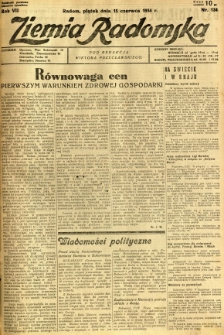 Ziemia Radomska, 1934, R. 7, nr 134