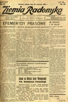 Ziemia Radomska, 1934, R. 7, nr 135
