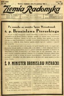 Ziemia Radomska, 1934, R. 7, nr 136