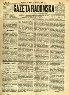 Gazeta Radomska, 1888, R. 5, nr 29