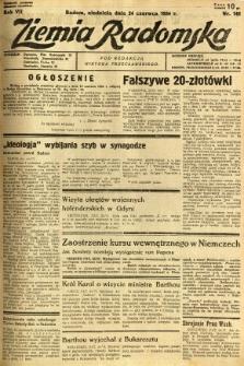 Ziemia Radomska, 1934, R. 7, nr 142