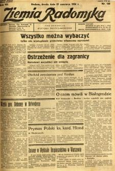 Ziemia Radomska, 1934, R. 7, nr 144