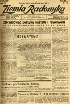 Ziemia Radomska, 1934, R. 7, nr 146