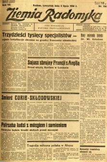 Ziemia Radomska, 1934, R. 7, nr 150