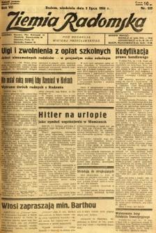 Ziemia Radomska, 1934, R. 7, nr 153