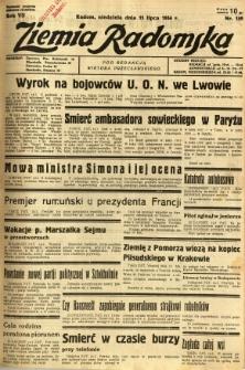 Ziemia Radomska, 1934, R. 7, nr 159