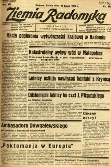 Ziemia Radomska, 1934, R. 7, nr 161