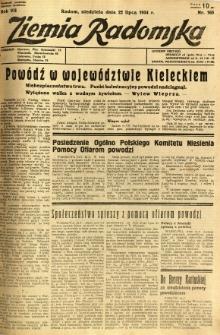 Ziemia Radomska, 1934, R. 7, nr 165