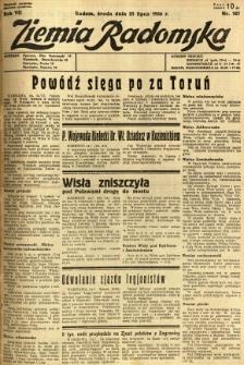 Ziemia Radomska, 1934, R. 7, nr 167