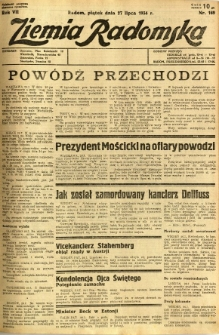 Ziemia Radomska, 1934, R. 7, nr 169