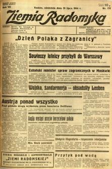 Ziemia Radomska, 1934, R. 7, nr 171