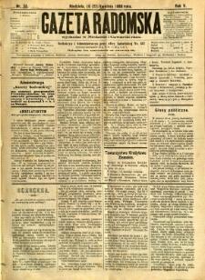 Gazeta Radomska, 1888, R. 5, nr 33