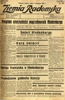 Ziemia Radomska, 1934, R. 7, nr 176