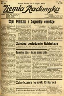 Ziemia Radomska, 1934, R. 7, nr 178