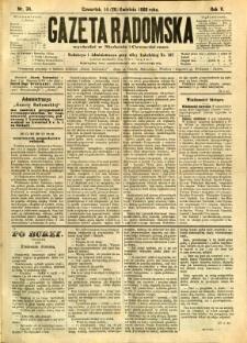 Gazeta Radomska, 1888, R. 5, nr 34