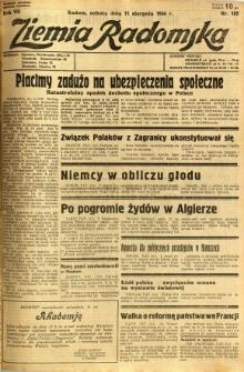 Ziemia Radomska, 1934, R. 7, nr 182