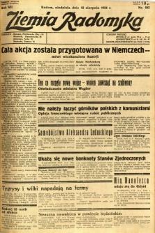 Ziemia Radomska, 1934, R. 7, nr 183