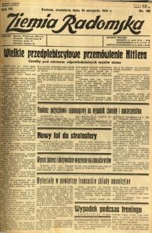 Ziemia Radomska, 1934, R. 7, nr 188