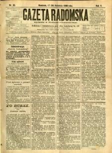 Gazeta Radomska, 1888, R. 5, nr 35