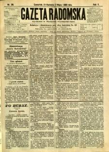 Gazeta Radomska, 1888, R. 5, nr 36