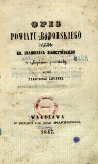 Opis powiatu radomskiego