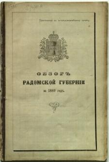 Obzor Radomskoj Guberni za 1889 god