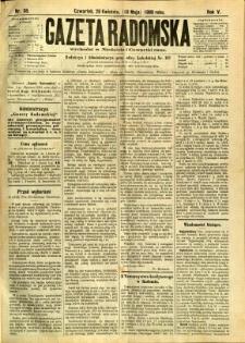 Gazeta Radomska, 1888, R. 5, nr 38