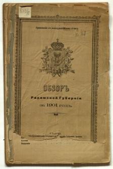 Obzor Radomskoj Gubernii za 1901 god