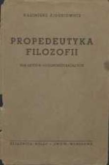 Propedeutyka filozofii dla liceów ogólnokształcących