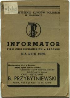 Informator firm chrześcijańskich w Radomiu na rok 1939