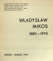 Władysław Mikos : 1885-1970