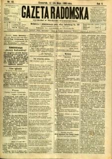 Gazeta Radomska, 1888, R. 5, nr 42