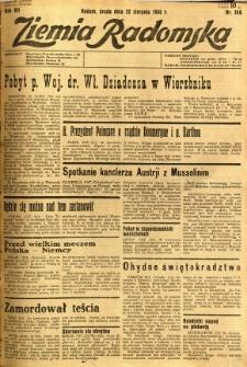Ziemia Radomska, 1934, R. 7, nr 190