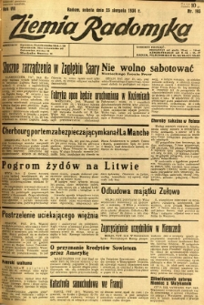 Ziemia Radomska, 1934, R. 7, nr 193