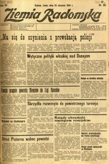 Ziemia Radomska, 1934, R. 7, nr 196