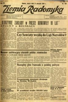 Ziemia Radomska, 1934, R. 7, nr 198
