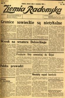 Ziemia Radomska, 1934, R. 7, nr 201
