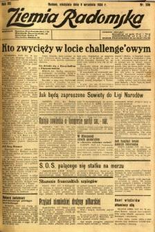 Ziemia Radomska, 1934, R. 7, nr 206