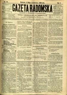 Gazeta Radomska, 1888, R. 5, nr 45