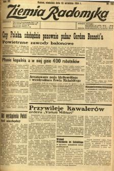 Ziemia Radomska, 1934, R. 7, nr 218
