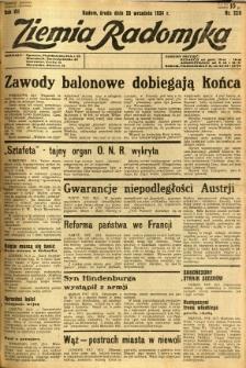 Ziemia Radomska, 1934, R. 7, nr 220