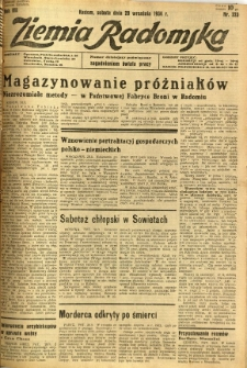Ziemia Radomska, 1934, R. 7, nr 223