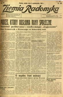 Ziemia Radomska, 1934, R. 7, nr 229