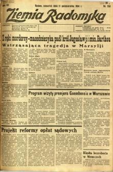 Ziemia Radomska, 1934, R. 7, nr 233